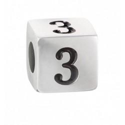 """Stroili - Elemento Componibile Uomo""""Numero 3"""" In Acciaio e Smalto Man Code - 1661393"""