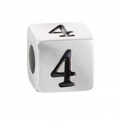 """Stroili - Elemento Componibile Uomo""""Numero 4"""" In Acciaio e Smalto Man Code - 1661394"""