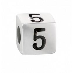 """Stroili - Elemento Componibile Uomo""""Numero 5"""" In Acciaio e Smalto Man Code - 1661395"""