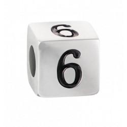 """Stroili - Elemento Componibile Uomo""""Numero 6"""" In Acciaio e Smalto Man Code - 1661396"""