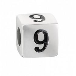 """Stroili - Elemento Componibile Uomo""""Numero 9"""" In Acciaio e Smalto Man Code - 1661399"""