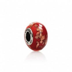 Tedora  - Charm in Argento e Vetro di Murano Touches of Gold -  MG227