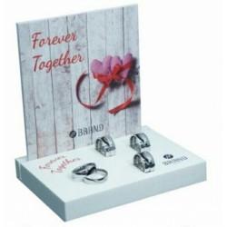 Brand - Anello Fedine Mezzo Cuore - Together ì Forever