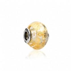 Tedora - Charm  in Argento e Vetro di Murano Radiant Gold - MG250