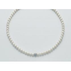 Miluna - Collana  Perle E Oro Bianco - PCL5300