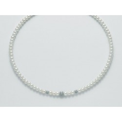 Miluna  - Collana  Perle e Oro Bianco 18 kt  - PCL5302