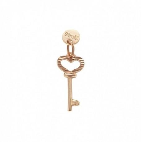 Stroili Love Beats Charm in Argento Rosè Diamantato -Apri il Mio Cuore- 1623282