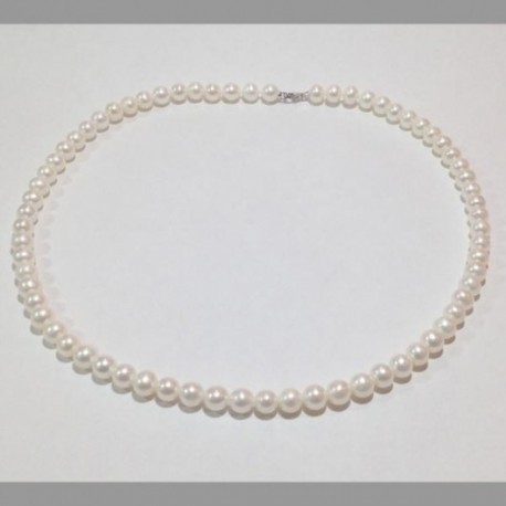 Miluna - Girocollo di Perle e Oro Bianco 18kt  - PCL4195