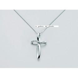 Miluna - Girocollo Con Croce Di Diamanti CLD3598