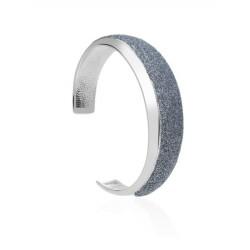 Stroili - Bracciale Rigido in Ottone  e Glitter Antracite Soft Dream - 1664580