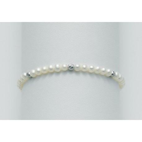 Miluna - Bracciale in Oro con Perle e  Oro 375 - PBR1562BX
