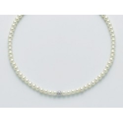 Miluna - Collana Di Perle E Oro Bianco 18kt - PCL5532