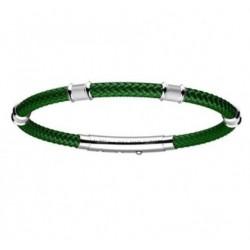 Zancan - Bracciale Uomo In Kevlar Verde E Arg 925 - EXB585-VR