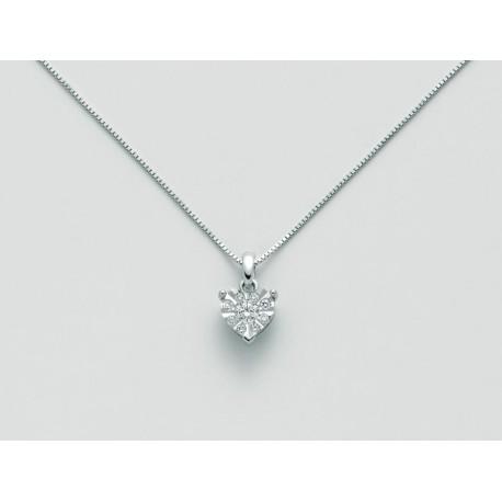Miluna - Collana  in Oro Bianco con Diamanti - CLD4183