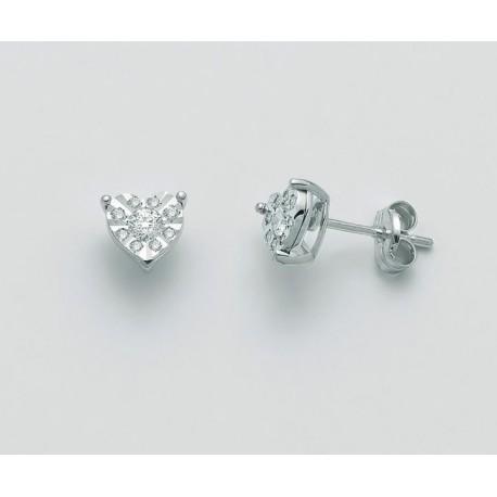 Miluna - Orecchini  in Oro Bianco e Diamanti  - ERD2462