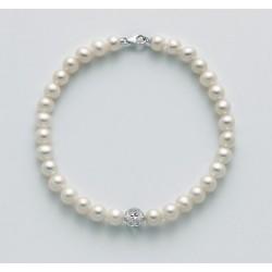Miluna - Bracciale Perle e Oro Bianco - PBR2767