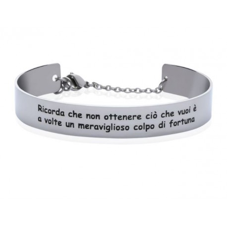 Stroili - Bracciale Rigido con frase incisa Lady Message - 1663106
