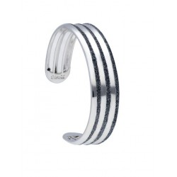 Stroili - Bracciale Bangle in Ottone Rodiato e Glitter Antracite Soft Dream - 1666002
