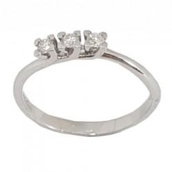 Miluna - Anello Trilogy in Oro Bianco e Diamanti  -  LID3299-015G7