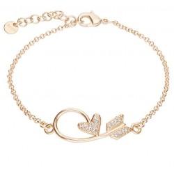 Stroili - Bracciale Con Freccia di Cupido e Cuore Con Strass Aurora - 1668369