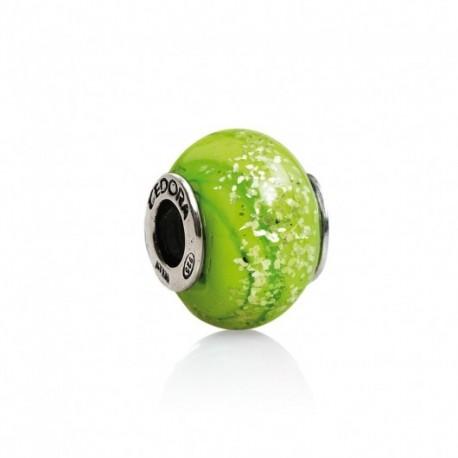 Tedora - Charm  in Argento e Vetro di Murano Verde Luminoso -  MG266