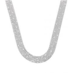Stroili - Collana Con Multifilo in Metallo Rodiato Con Strass - 1668688