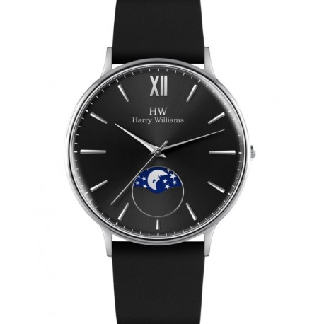 Harry Williams - Orologio Solo Tempo Uomo MOONPHASE - HW-3324M-01