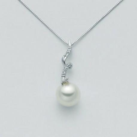 Miluna - Collana  Collezione Perle Con Diamanti -  PCL2475