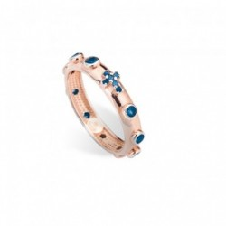 Amen - Anello Arg Rose' Con Zirconi - AROR