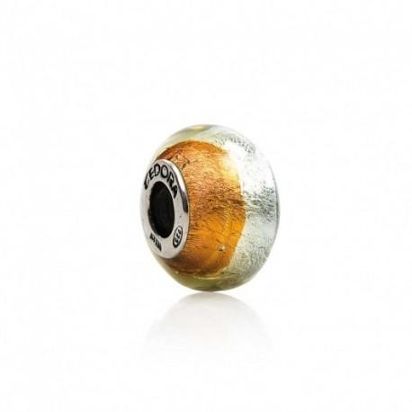 Tedora  - Charm in Argento e vetro di Murano Sentore D'Autunno  - MG215