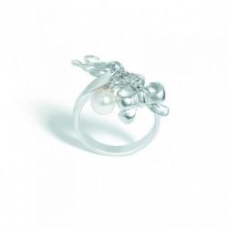 Liu Jo - Anello Luxury Arg 925% Charms Perla Swarovski - LJ421