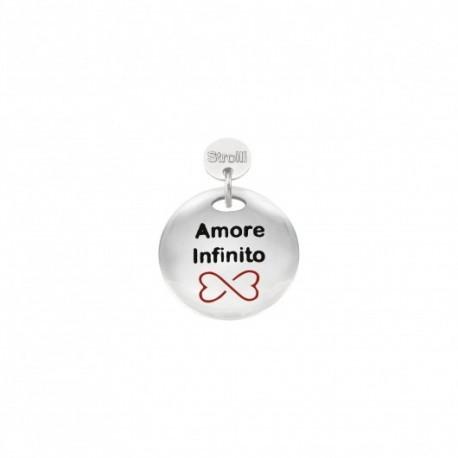 Stroili - Charm in Argento 925 Rodiato e Smalto - Amore Infinito -1629638