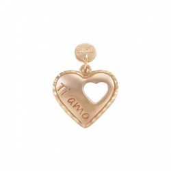 Stroili - Love Beats Charm in Argento 925 Rosè e Diamandato -1627010