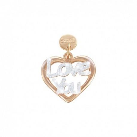 Stroili - Love Beats  Charm in Argento 925 Rosè e Glitter  -1627008
