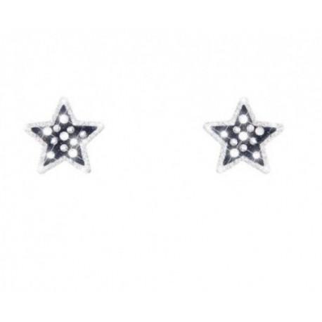 Stroili  - Orecchini  a Stella in Ottone Rodiato  Cristalli e Glitter - 1624837