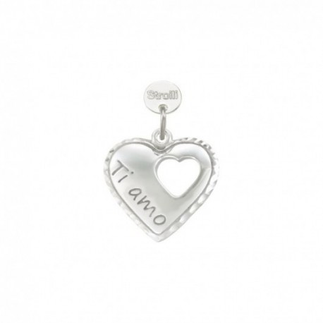 Stroili Love Beats Charm in Argento 925 rRodiato e Diamandato -1627011