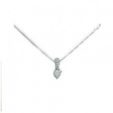Miluna - Collana Oro Bianco Diamanti - CLD2721