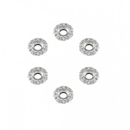 Stroili Love Beats Kit 6 ciambelline diamantate in argento rodiato -1623210