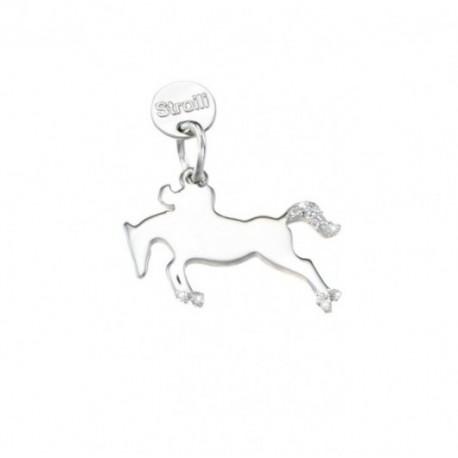Stroili -  Love Beats Charm in argento Rodiato e Glitter -Non Conosco Ostacoli- 1623305