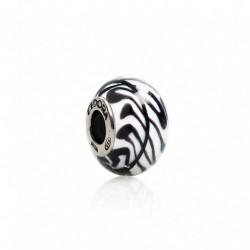 Tedora  - Charm in Argento e Vetro di Murano Zebra di Murano - MG209