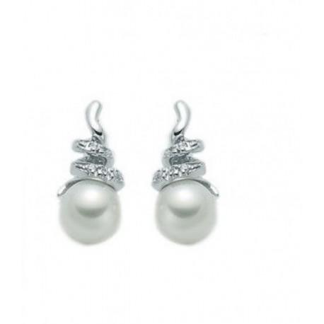 Miluna - Orecchini Perle Oro E Brillanti - PER1209