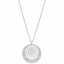 Stroili Oro - Collana Con Pendente In Acciaio Satinato e Cristalli Bianchi - 1512931